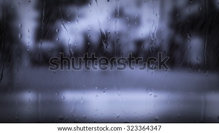 Rainy days,Rain drops on window with blured people passing by ,rainy weather,rain background,