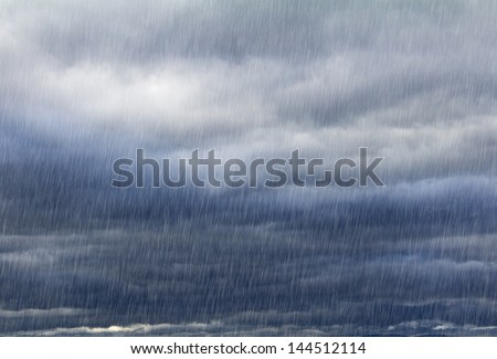 Rainy sky with dark clouds natural background