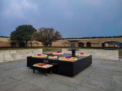 Raj Ghat-The final resting place of Mahatma Gandhi