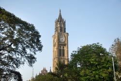 Rajabai Clock Tower, Heritage building, University of Mumbai campus, Mumbai, Maharashtra, India, Southeast Asia.
