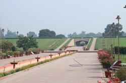 Rajghat historical site New Delhi India. Rajghat is a memorial dedicated to Mahatma Gandhi in New Delhi.