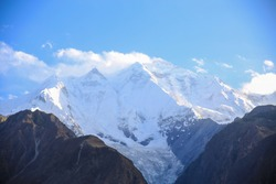 Rakaposhi Mountain Peak, Hunza Valley, Gilgit, Pakistan