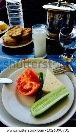 Raki drink with cheese Stok fotoğraf ©