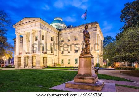 Raleigh, North Carolina, USA State Capitol Building.