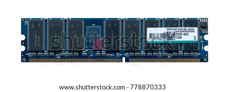RAM DDR BUS-400 isolated white background