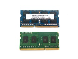 RAM isolated on a white background. RAM for laptop. Random access memory.
