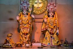 Rama and Sita figures interior decoration