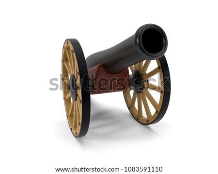 ramadan cannon. 3d illustration