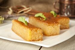 Ramadan Dessert sam tatlisi traditional Turkish sweet