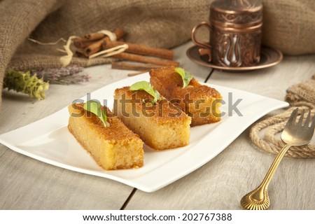 Ramadan Dessert sam tatlisi traditional Turkish sweet #202767388