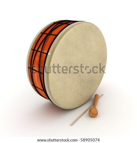 ramadan drum 3d rendered isolated
