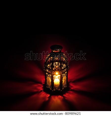 Ramadan greeting  card template - stock photo