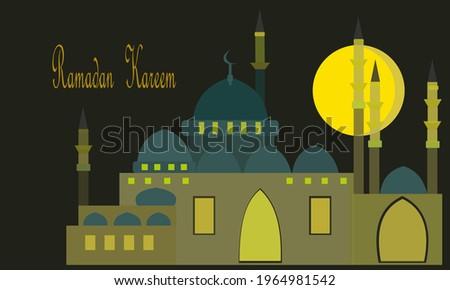 Ramadan kareem ,on the 15th nigh of Ramadan in Istanbul Masjid, Turkey Сток-фото ©