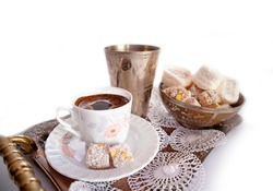 Ramadan Kareem Turkish Coffee and Turkish Delight