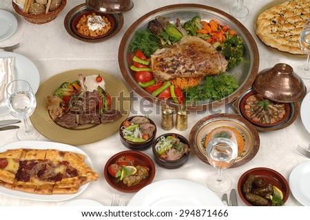 ramadan table in restaurant