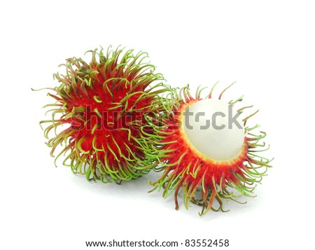 Rambutan is a fruit with sweet red shell