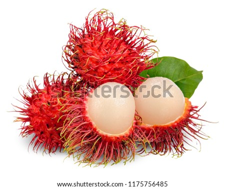 Rambutan isolated on white with clipping path.