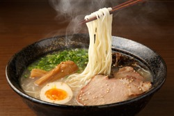 Ramen with Pork Bone Based Soup