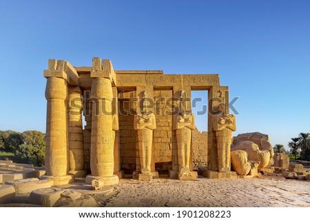 Ramesseum, Theban Necropolis, Luxor, Egypt Stock photo ©