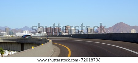Ramp at intersection of I-17 and I-10 near Phoenix downtown, Arizona