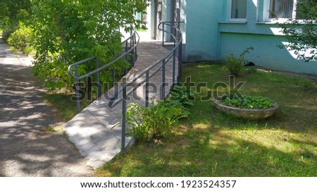 Ramp for the passage of strollers and wheelchairs inside the house Stock foto ©