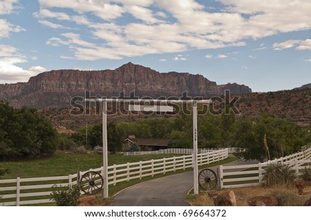 Ranch in zion national parc USA