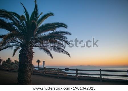 Rancho Palos Verdes cliffs at Sunset Сток-фото ©