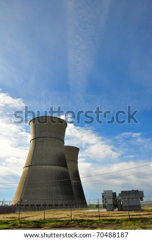 Rancho Seco nuclear power plant cooling towers