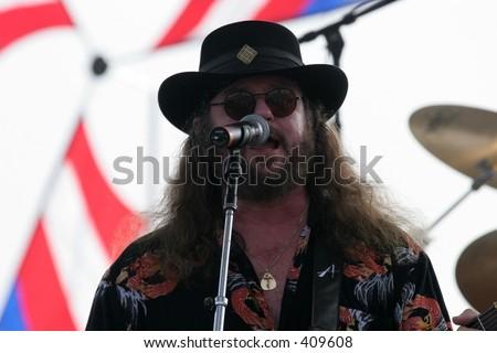 Randall Hall formerly of Lynyrd Skynrd World classic Rockers in Atlantic City beach concert