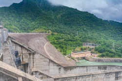 Randenigala water dam in Badulla, Sri Lanka, which generates most of the power to the country