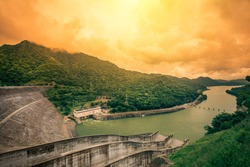 Randenigala water dam resevior in Badulla, Sri Lanka, which generates most of the power to the country
