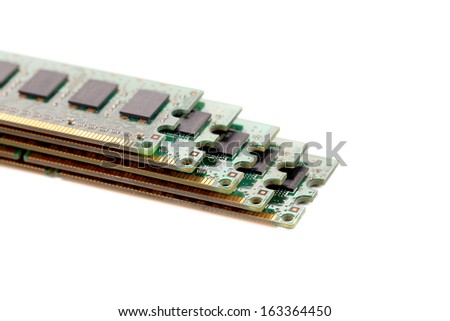 Random Access Memory for servers. Isolated on a white background.