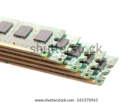 Random Access Memory for servers. Isolated on a white background. - stock photo
