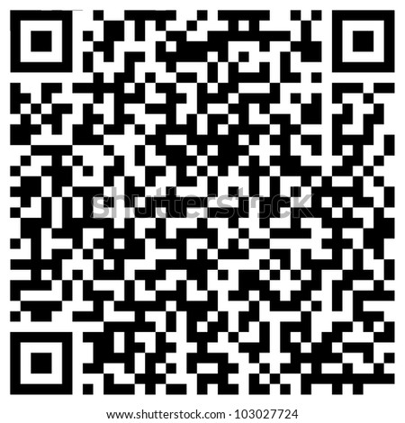 Random generated QR code abstract pattern