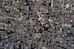 Random letterpress collection for printing
