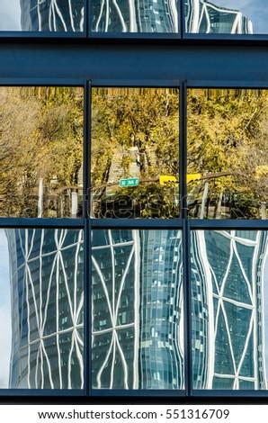Random reflections in a skyscraper window #551316709