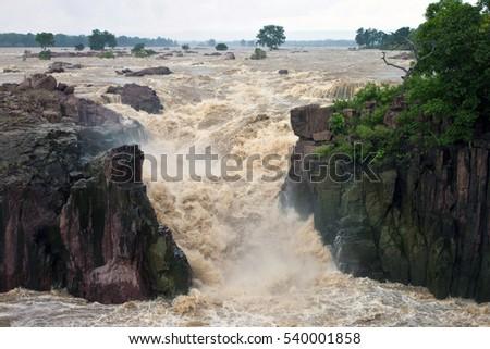 raneh falls during monsoon...