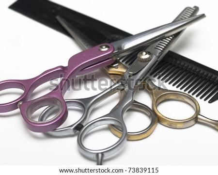 range of accessories for hairdressers