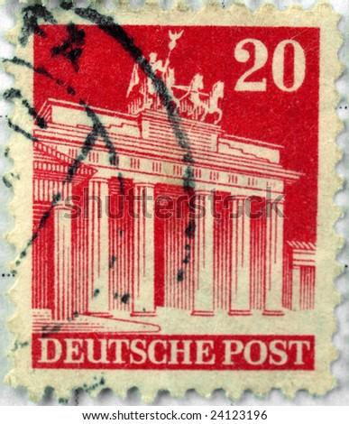 Range of German postage stamps