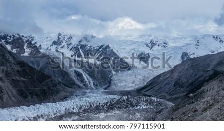 range of snowy mountains #797115901
