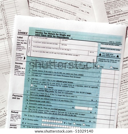 Range of various blank USA tax forms