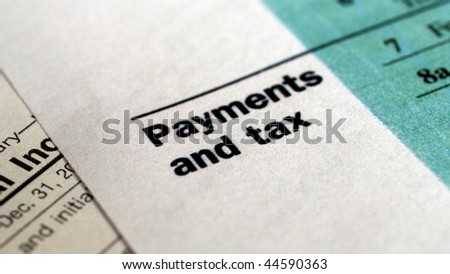 Range of various blank USA tax forms - (16:9 ratio)