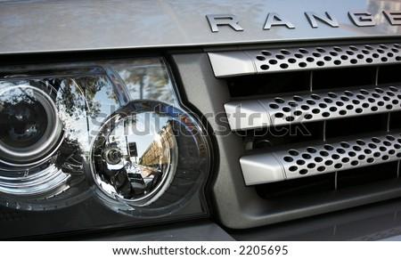 Range Rover Grill - stock photo