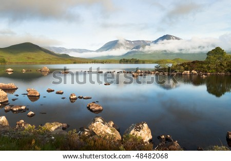 Rannoch Moor in Scottish Highlands.