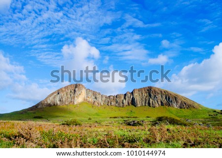 Rano Raraku Mountain - Easter Island Zdjęcia stock ©