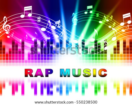 Rap Music Notes Design Indicating Sound Tracks And Song Stock photo ©