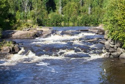 rapid into the large river in Canada