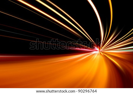 rapid race of night street