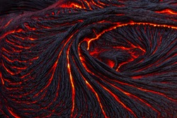 rapidly cooled lava crust creates an abstract