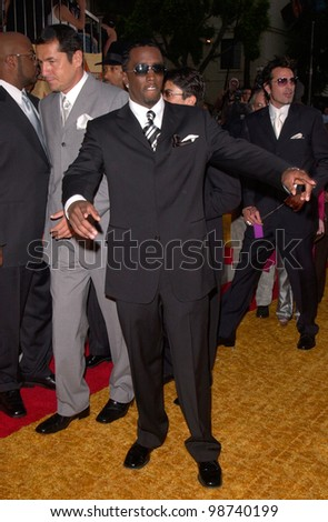 Rapper SEAN PUFFY COMBS aka p. diddy at the MTV Movie Awards in Los Angeles. 02JUN2001.